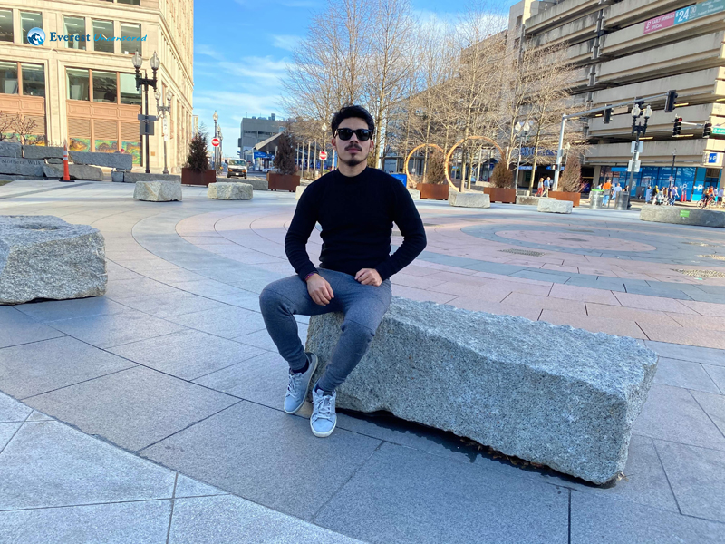 At Rings Fountain Rose Kennedy Greenway Boston